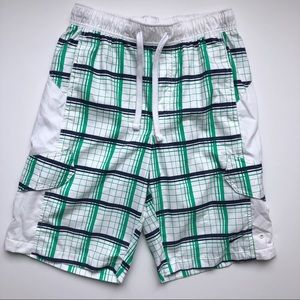 Nike Men's Swim Trunks White Green Size Small